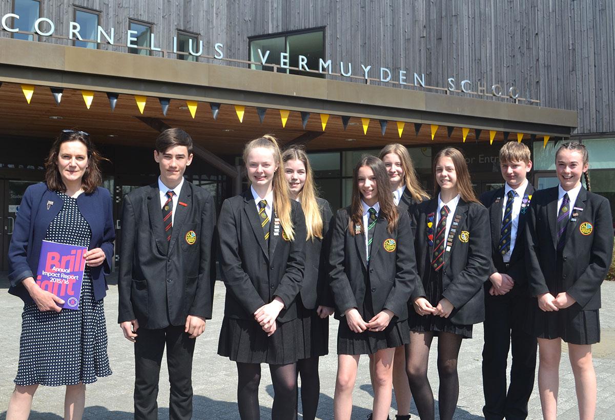 Rebecca Harris MP meets Brilliant Club Pupils