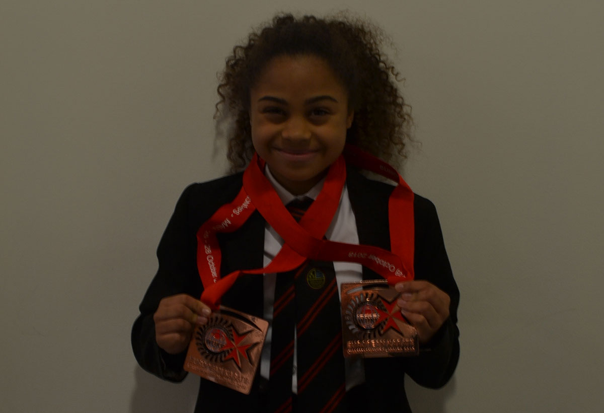 3rd in Europe for Mya Francis