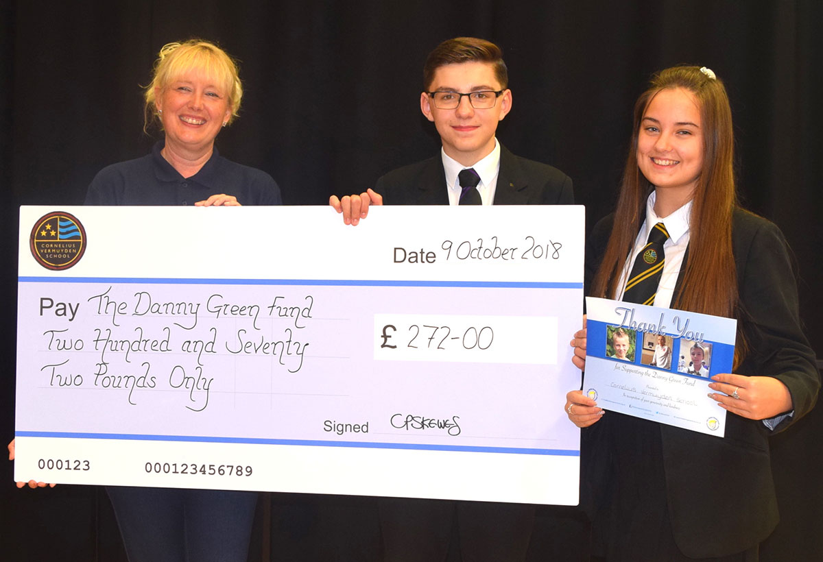 Student Council Members Raise Money for Danny Green Charity