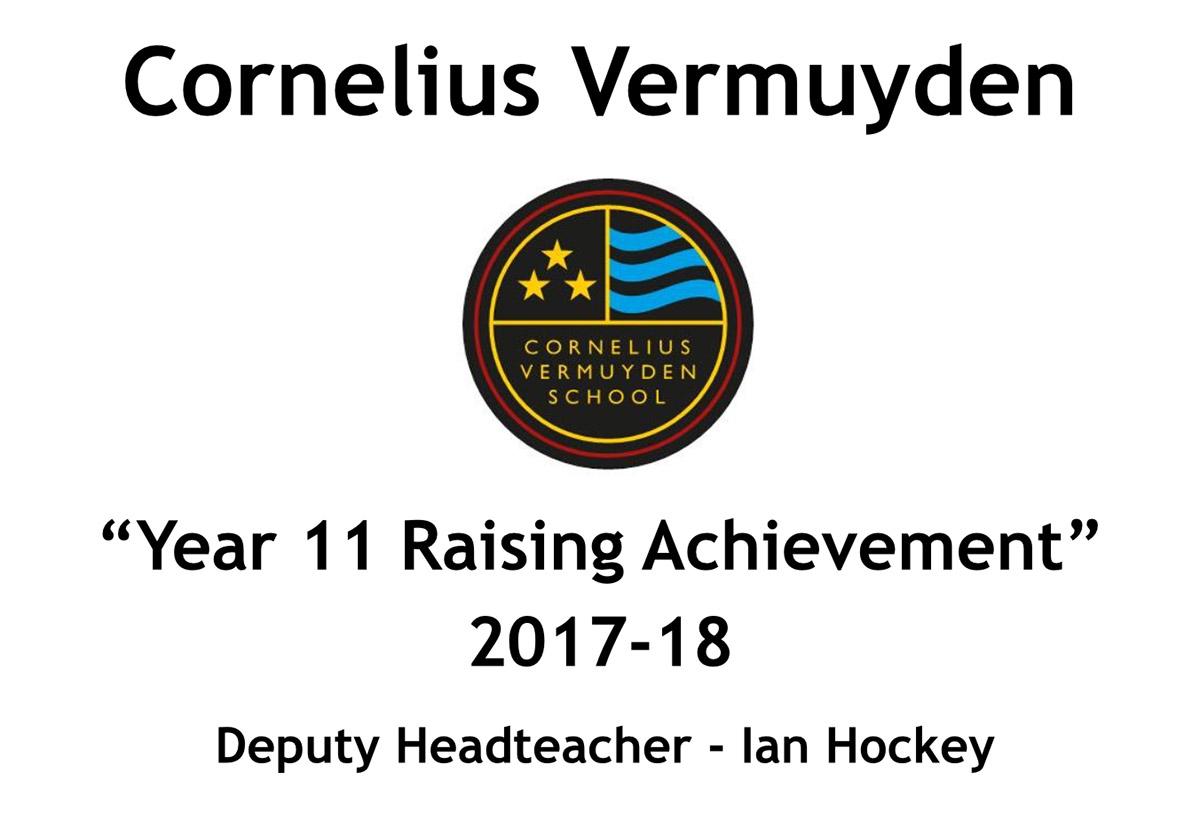 Year 11 Raising Achievement  2017-18