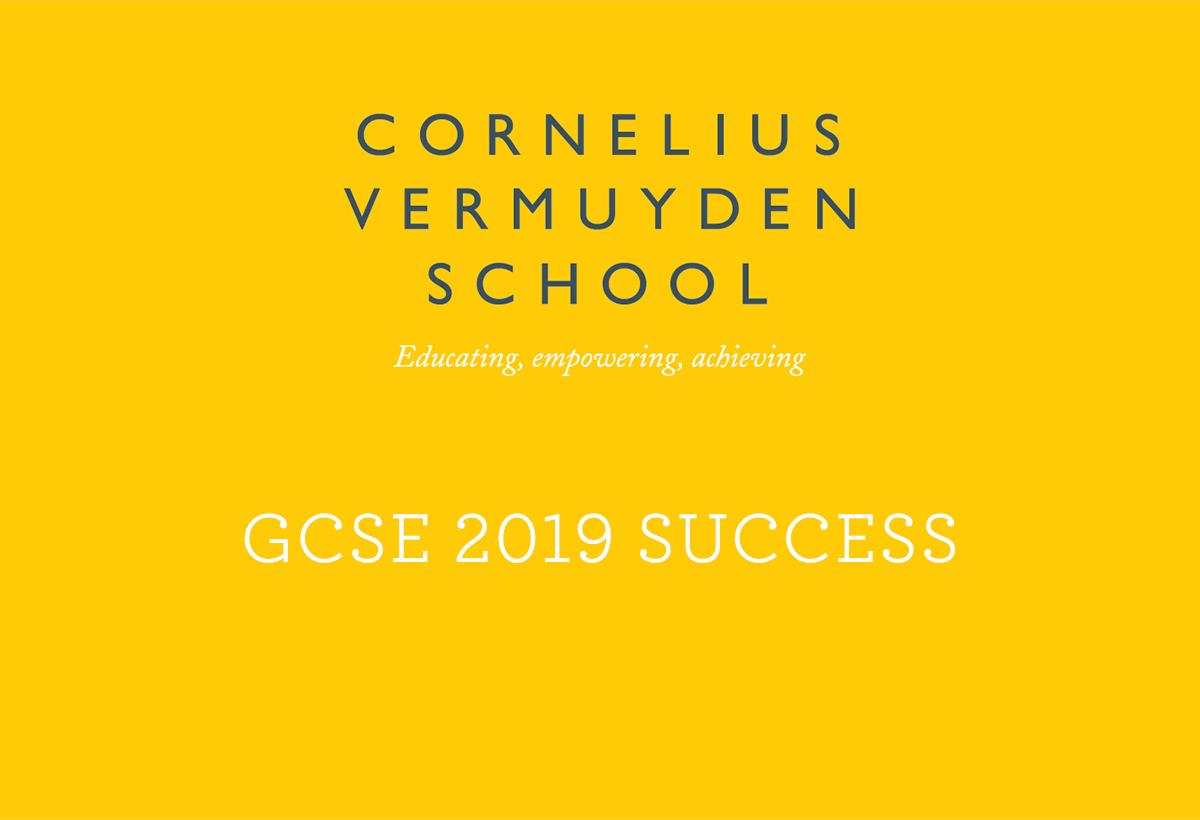Cornelius Vermuyden GCSE Exam Success 2019